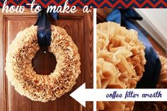 Instructions for making a coffee filter wreath here...