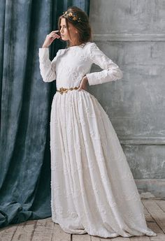 2c527bae5f9 Rustic wedding dress-long sleeve wedding dress with sleeve country  Alternative-wedding dresses boho wedding dress bohemian wedding