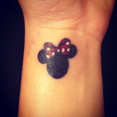 Tattoo #3 Minnie Mouse on my wrist :)