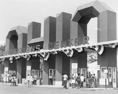 Ohio State Fair Entrance on 11th Ave, Columbus, OH approx 1970s