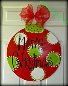 DIY Snowman door hanger for winter/Christmas time. Love the ...