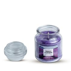 CLASSIC JAR SCENTED CANDLE PURPLE LARGE FRENCH LAVENDER AROMA Scented Candles, Candle Jars, Buy Candles, French Lavender, Beautiful Candles, Fragrance, Perfume, Purple, Classic