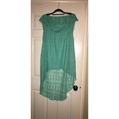 Strapless high low dress! Teal woven strapless summer dress! High-low length! Worn once and in perfect condition! Maurices Dresses High Low