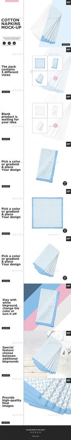Cotton Napkins Mock-up - Miscellaneous Product Mock-Ups