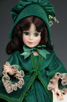 "Madame Alexander Scarlett O'Hara doll green curtain dress. I have her- she;s the 21"" Cissy doll.  Also, in the storage unit my ex refused to pay for or retrieve for my children and I.  Dee Dee Whisler"