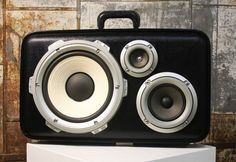Colonel Ty was once a trumpet case and now packs an 80 W amp, a 10-inch woofer, 5-inch mid and 3-inch tweeter