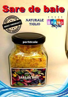 Sare de baie portocale Fashion Branding, Salsa, Jar, Food, Style, Swag, Essen, Salsa Music, Meals