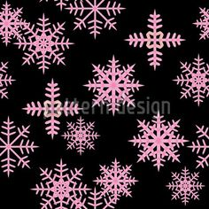 Ice Crystals Black by Martina Stadler available as a vector file on patterndesigns.com
