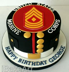 It looks like the US Armed Forces along with world space programs were also impressed with 1959 design in hypersonic wings. to adopt chevron logo for its insignia . Military Cake, Military Party, Army Party, Military Crafts, Military Retirement, Usmc Birthday, Marine Corps Birthday, Birthday Cake, Retirement Cakes