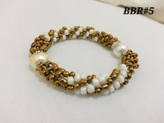 gold and white with pearl