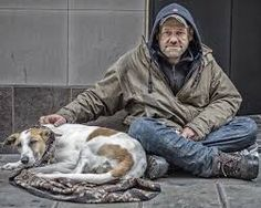 homeless - by Jon on Flickr Homeless - Man and his Dog https://www.flickr.com/photos/jb-london/8729276154/