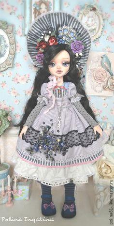 Купить Мариори - бледно-сиреневый, готическая лолита, кукла ручной работы, кукла в подарок