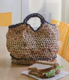 Alter-Eco.  Crochet bag.  Recycled plastic bags.  Knit, Purl, Save the World.  Vickie Howell & Adrienne Armstrong.  File Evernote