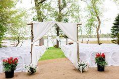 Rustic, Elegant, Lakeside & Frazee Event Center Wedding | Steph & Tim | Outdoor Ceremony