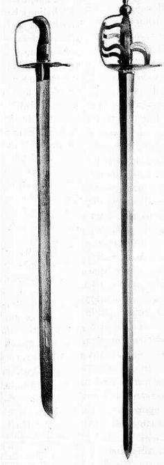 "A backsword is a type of European swordcharacterised by having a straight single-edged blade and a hilt with a single-handed grip It is so called because the triangular cross section gives a flat back edge opposite the cutting edge. Later examples often have a ""false edge"" on the back near the tip, which was in many cases sharpened to make an actual edge and facilitate thrusting attacks. From around the early 14th century the backsword became the first type of European sword to be fitted…"