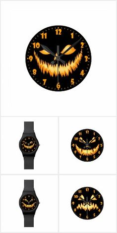 Halloween Clock and Watches