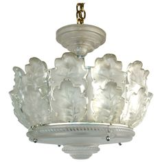 """""""Chene"""" Chandelier by Lalique"""