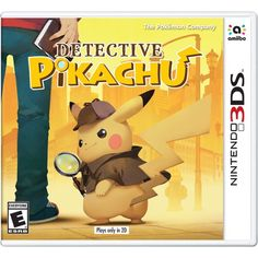 Detective Pikachu for Nintendo is a detective adventure game with a fun Pokémon theme. Play as Tom Goodman and partner with Pikachu to investigate strange occurrences in Ryme City. Pikachu Game, Pokemon Games, Cute Pokemon, Nintendo Switch, Nintendo 3ds Games, Professor Layton, Crash Bandicoot, Monster Hunter, Games