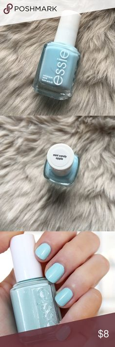 🆕 ESSIE Mint Candy Apple Nail Polish Cult classic Essie polish in Mint Candy Apple. Perfect Tiffany's blue color. They have since changed the formulation to be more green. This is the classic color that bloggers love! Brand new, never been used! Essie Makeup