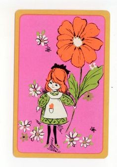Little Girl Big Flower