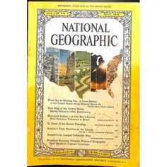 A cover gallery for National Geographic National Geographic Cover, Gifts For History Buffs, Science Articles, Sea To Shining Sea, City Boy, United States Map, Vintage Magazines, World Cultures, Rage