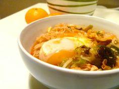 Korean Kimchi Ramen: Excellent remedy for a bad cold!