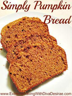 Simply Pumpkin Bread Recipe