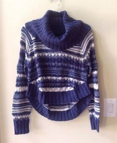 NWT CHASER WOMEN'S MULTI-COLOR COTTON BLEND LONG SLEEVE COWL NECK SWEATER SIZE M #CHASER #CowlNeck