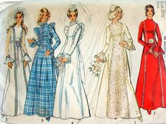 1970s Wedding Gown Sewing Pattern Vintage by bythewayside on Etsy