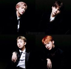 The hyungs line! My biases(?) My boyfriends!!