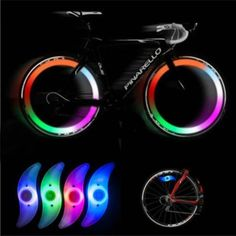 Acquista New Bicycle Bike Cycling Wheel Spoke Tire Tyre Lamp LED Light Rainbow Red Green Blue su Wish - Lo shopping divertente Bicycle Safety, New Bicycle, Tricycle, Monocycle, Waterproof Led Lights, Bicycle Lights, Bike Light, Bicycle Maintenance, Bike Wheel