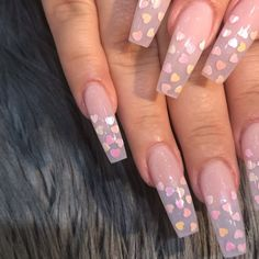 Semi-permanent varnish, false nails, patches: which manicure to choose? - My Nails Aycrlic Nails, Hair And Nails, Heart Nail Designs, Long Nail Designs, Art Designs, Fire Nails, Heart Nails, Nagel Gel, Best Acrylic Nails