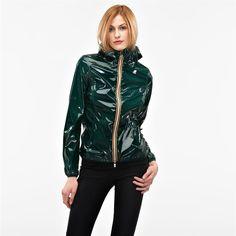 Waterproof Jacket K-way for woman LIL VINYL-K008NE0