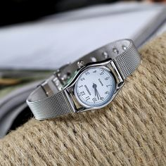 Fashion Quartz Wristwatch Small Round Dial Stainless Steel Strap Watch Casual Jewelry for Women is hot-sale, waterproof watches, bracelet watch, and more other cheap women watches are provided on NewChic. Waterproof Watch, Sport Casual, Pendant Earrings, Body Jewelry, Bracelet Watch, Women Jewelry, Quartz Watches, Elegant, Stainless Steel