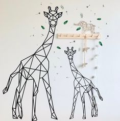 Giraffe M cm) Animal Wall Decals, Wall Art Decal, Drawings Pinterest, Monochrome Nursery, Baby Room Themes, Jungle Room, Valentines Day For Him, Bedroom Murals, Girl Decor