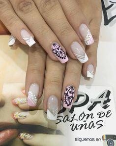 Uñas Beauty Spa, Hair Beauty, French Polish, Nail Technician, Black Nails, Manicure And Pedicure, Fun Nails, Nail Designs, Nail Art