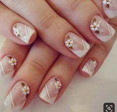 Discover thousands of images about Sandrinha Silva Bella Nails, Flower Nail Art, Beautiful Nail Art, Lip Art, French Nails, Nail Arts, Wedding Nails, Beauty Nails, Pretty Nails