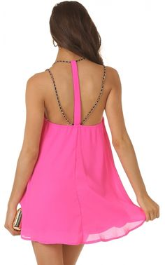 Party dresses > CHAIN MY WAYS DRESS IN PINK