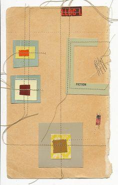 collage US : Melinda Tidwell, papier cousu Paper Collage Art, Collage Art Mixed Media, Collages, Altered Books, Stitching On Paper, Mail Art, Art Plastique, Bookbinding, Textile Art