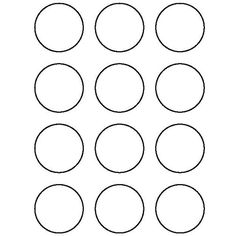 Inch Circle Pattern Use The Printable Outline For Crafts