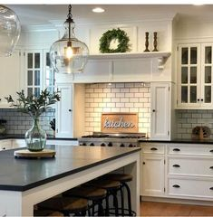 ideas living room kitchen decor light fixtures for 2019 Kitchen Redo, Home Decor Kitchen, New Kitchen, Home Kitchens, Kitchen Remodel, Kitchen Design, Room Kitchen, Kitchen Ideas, Country Kitchen