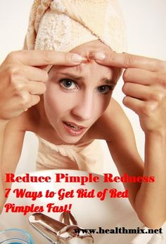 If you are experiencing pimple redness and would like to learn how to reduce the redness of pimples fast, then read this collection of favorite home remedies and tips: Avoid the urge to pick, pop or squeeze a pimple. This could cause the spread of bacteria and you could end up with a permanent scar. To reduce the redness of a pimple, apply ice to the area every half hour. You should hold the ice on the affected area for about 2 minutes. The ice will reduce the swelling and can help with any ...
