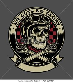 Buy Vintage Biker Skull with Crossed Monkey Wrenches Emblem by vectorfreak on GraphicRiver. fully editable vector illustration (editable EPS) of vintage biker skull with crossed monkey wrenches emblem on grey . Classic Harley Davidson, Harley Davidson News, Harley Davidson Motorcycles, Motos Vintage, Vintage Biker, Motorcycle Logo, Garage Art, Skull Art, Graphic