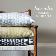 Our new ISOSCELES collection woven in Scotland from 100% Merino wool has now launched online | www.nikijones.co.uk