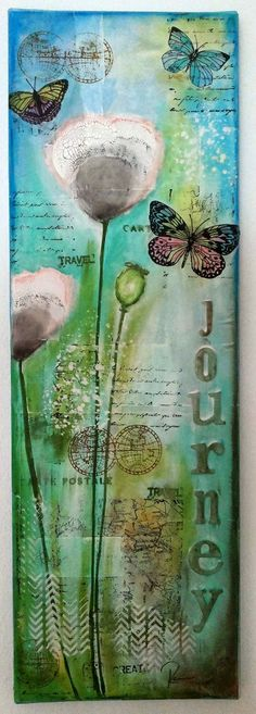 Susanne Rose - Papierkleckse: Mittwoch und wieder Mixed Media...: Canvas #mixedmedia #canvas #gelatos