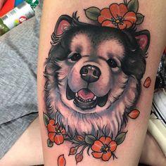 Traditional Tattoo England, Traditional Tattoo Dog, Neo Traditional Art, Baby Tattoos, Time Tattoos, S Tattoo, Color Tattoo, Craft Museum, Tattoo People