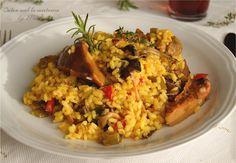 Arròs A La Cassola Amb Pollastre I Bolets, O Arroz A La Cazuela Con Pollo Y Setas ☆☆