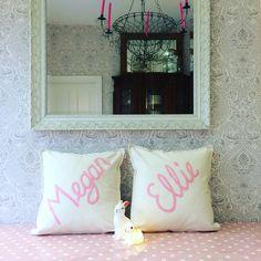 Little girls and bunnies  #cushion Cheeky Sew & Sew