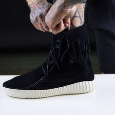 sale retailer fbb09 53f0f The Shoe Surgeon Turned These Yeezy Boosts Into Moccasin Masterpieces.  COMPLEX Yeezy Boost 750,