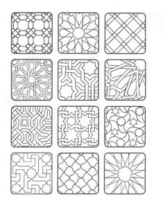 coloring forms of Moorish tiles